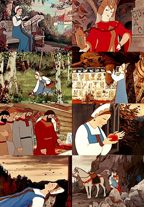 a list of favorite fairytale adaptations:Сказка о мёртвой царевне и о семи богатырях(The Tale of the Dead Princess and the Seven Knights), Soviet Union, 1951