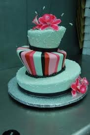 decorated Mad hatter cake.