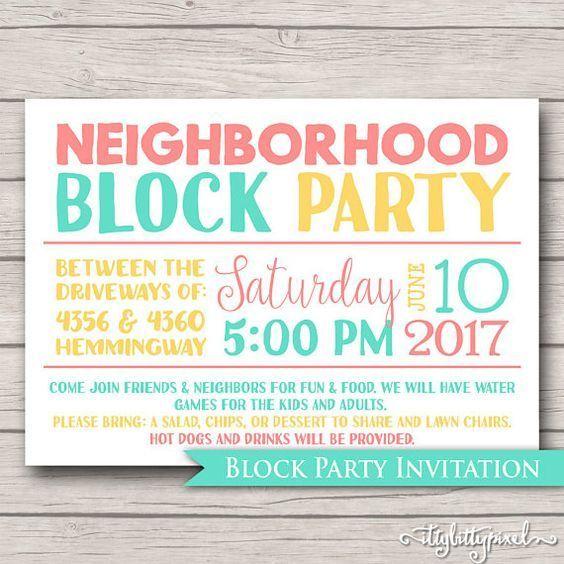 Die Nachbarn Zur Party Einladen Nachbarschaft Party Party Einladung Party