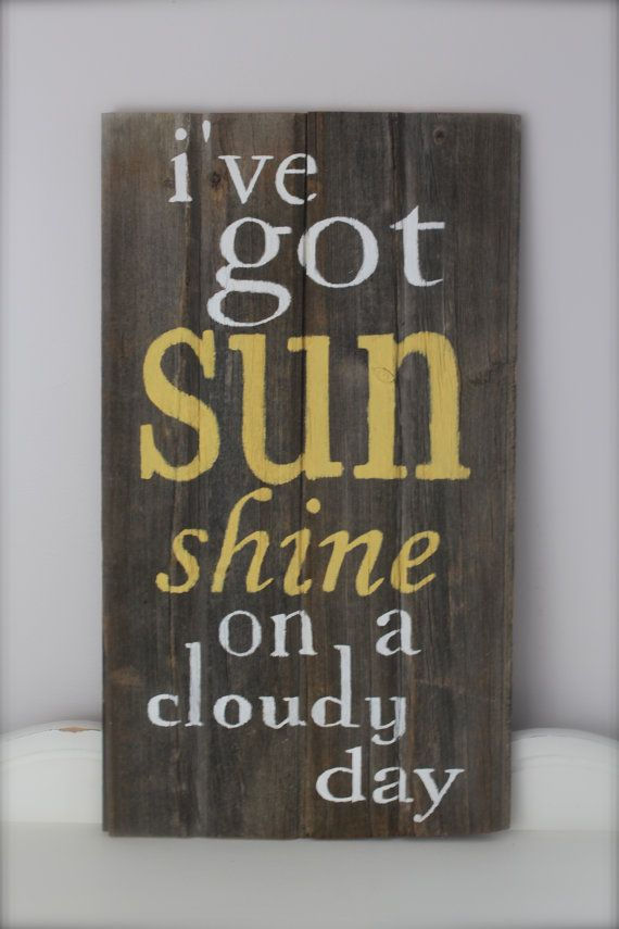 Wood Wall Art Wood Sign Reclaimed Wood Sunshine Quote