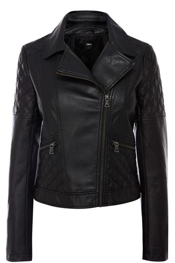 Sienna Faux Leather Quilted Jacket #autumncovered
