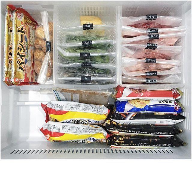 Instagram media by ____rie.dvl____ - ・ ・ 冷凍庫(2016.03.15.)… ・ ・ 今の冷凍庫はこんな感じです✨ ・ ほぼ1週間で空になります☝️ ・ 因みに大量の冷凍パスタは 私の仕事後のビールのツマミですw ・ ・