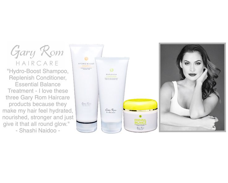 Gary Rom Haircare products - as used by the gorgeous Shashi Naidoo