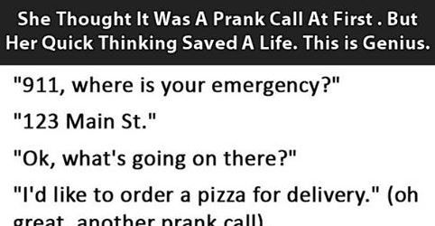 She Thought It Was A Prank Dial At First, But Then She Caught On Quick…