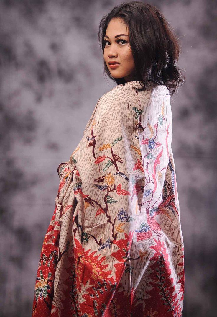 Kain Batik Tulis Madura, Motif: Serat Kayu, Kode: BTM-68