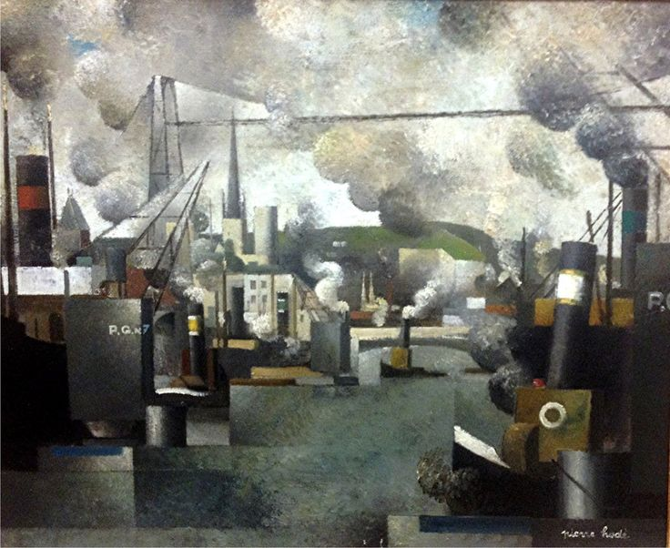 Pierre Hodé, nom d'artiste de George Ducenne (France, 1889-1942) – Le port de Rouen (date inconnue) Musée des Beaux-Arts de Rouen