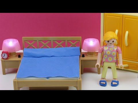 Juguetes de Playmobil en español - Dormitorio de los padres (5331)   Habitación de playmobil - YouTube