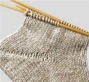 Strickanleitung für Socken mit vielen Bildern