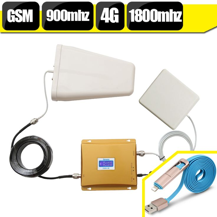 LCD Display 65dB GSM 4G Cell Phone Signal Amplifier GSM 900 LTE 1800 Booster GSM 900mhz 1800mhz Mobile Phone Cellular Repeater