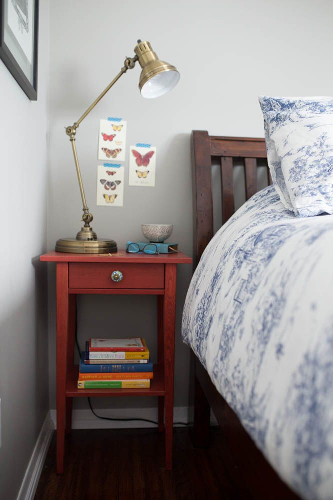 A beautiful red HEMNES nightstand worth dreaming about