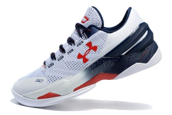 Under Armour Stephen Curry 2 Two USA White Navy Red  e5dd13e7a