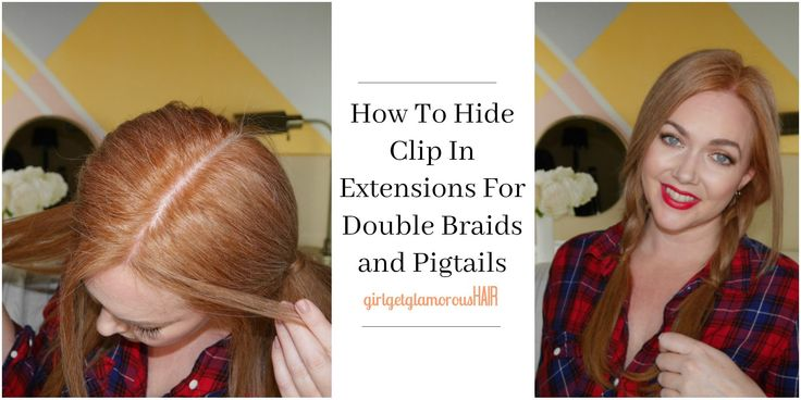 how to hide extensions wefts in #pigtails and #braids