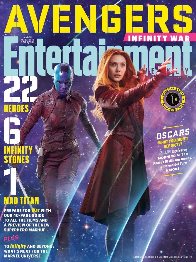 Avengers: Infinity War: Up close with EW's 15 new covers - Nebula & Scarlet Witch