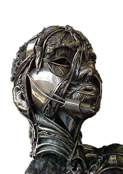 Head - Silver and serpentine  Raul Valladares