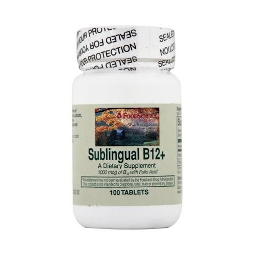 Foodscience Of Vermont Sublingual B12 Cherry (1x100 Tablets)