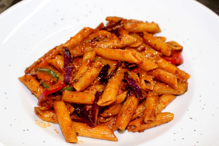 Our Vege Penne - julienne vegetables tossed in a basil or sun dried tomato pesto