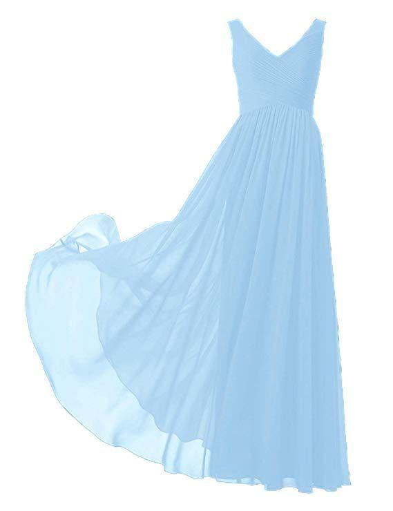 Wunderschon Luftiges Langes Abendkleid Aus Chiffon In Vielen Verschiedenen Farben Ob Als Kleid Fur Die Brautjungf Abendkleid Ballkleid Brautjungfern Kleider