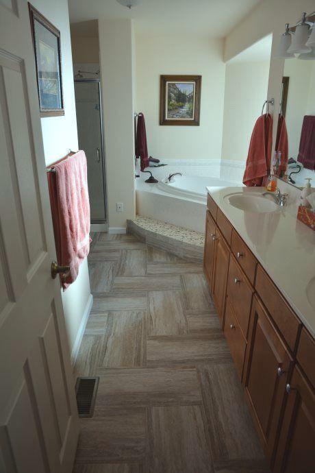 Mannington adura rectangles in color cascade luxury vinyl for Luxury kitchen flooring