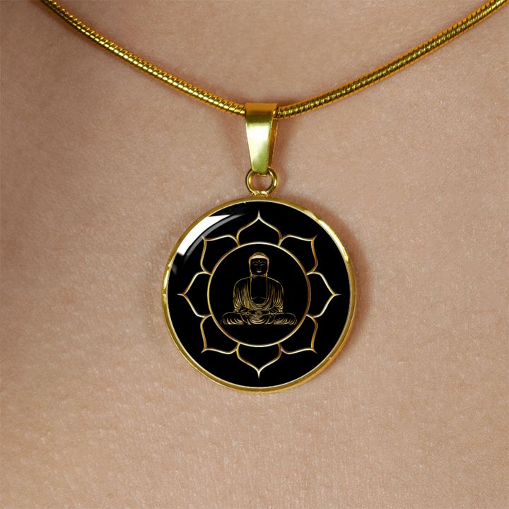Gautama Buddha in Lotus Setting, Gift for Inspiration, Meditation Gift Wouldn't you just love this necklace as a surprise gift? Beautiful Buddha meditation gift necklace is unique and is sure to make that special someone very happy indeed! Ability to have your own wording engrave don the back. Available as a necklace or bracelet, just$59.97...Read the rest of this entry