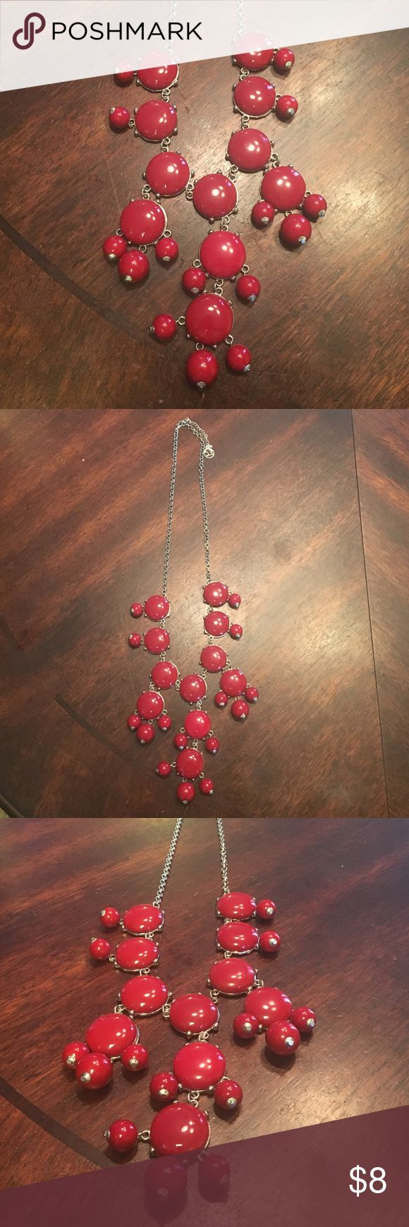 Cute Red Bubble necklace Long red bubble necklace. Cute and fashionable. Can wear with many options. Jewelry Necklaces