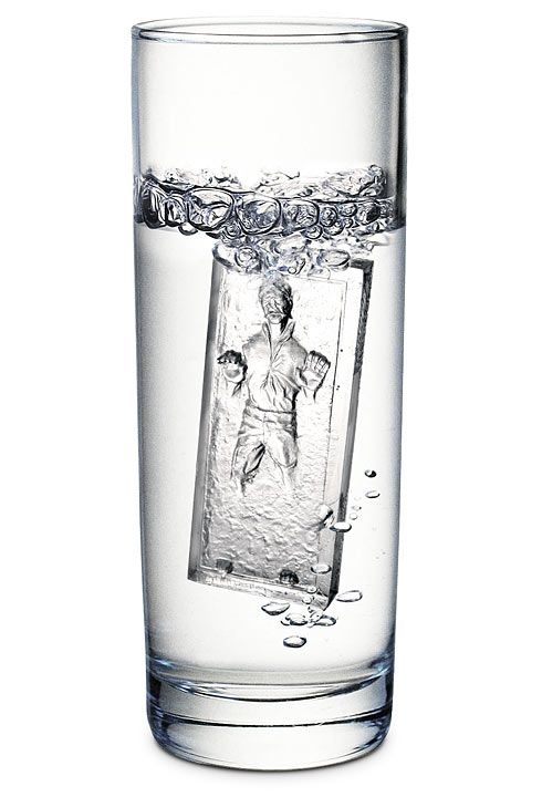 Han Solo in Carbonite ice cube tray (Fancy, $15)