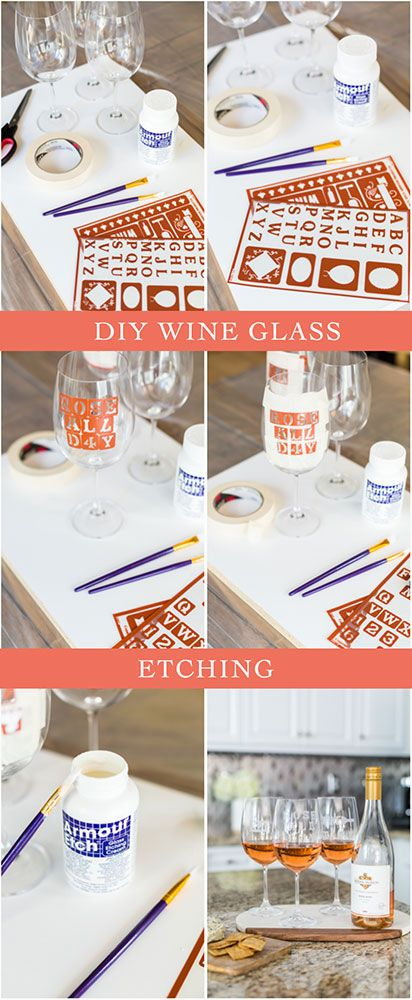 This DIY Personalized Wine Glasses project is a fun and affordable way to enhance your wine experience. Learn how to make wine glasses etching with some of your favorite sayings and share them with your friends.