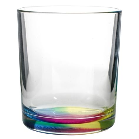 Glas RAINBOW. 22cl, 6-pack. Härligt dricksglas med regnbågsfärgad botten som speglar sig fint när du fyllt glaset med vätska.