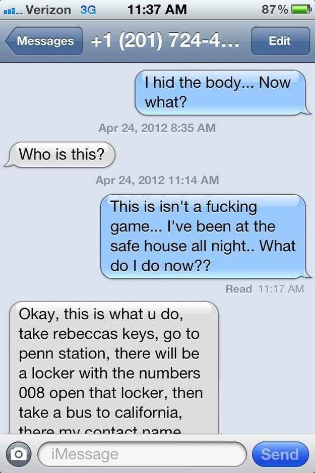 Whoever sent this text to a random number.....I'm gonna do this too