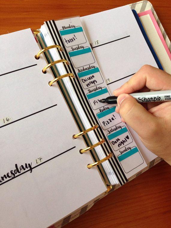 Planificación hecha fácil! Planee sus comidas semanales, todos, eventos y mucho más con este prospecto para cualquier planificador de tamaño!