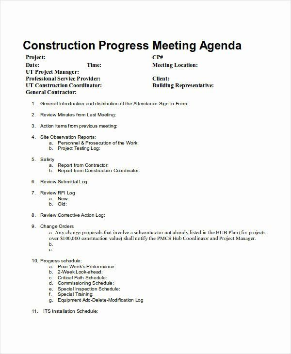 Construction Meeting Minutes Template Awesome 10 Meeting Agenda Samples Free Sample Example Format Templates List Of Jobs Face Template