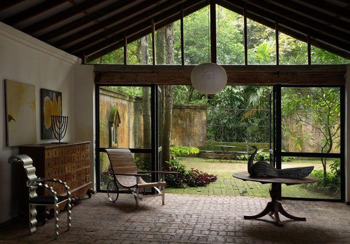 Interior of Geoffrey Bawa's Lunuganga estate.