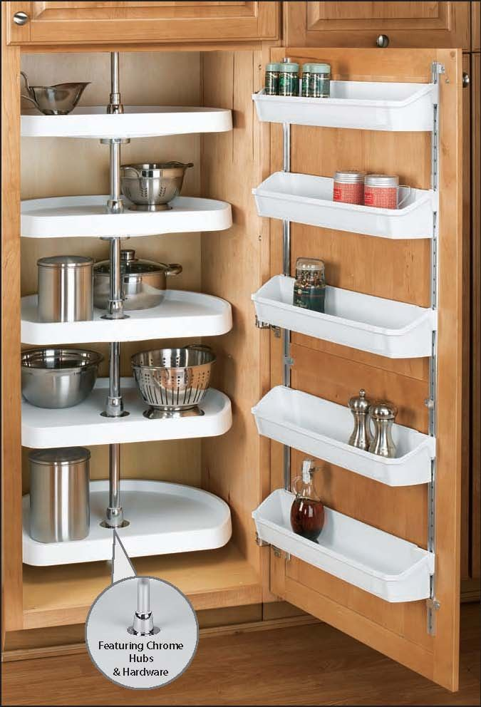 Tall Lazy Susan Pantry Storage System Organize My Home Pinterest Cabinets Pantry And Lazy