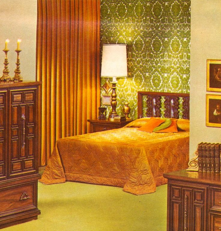 Kitschy living 1970 1979 fashion life pinterest for Retro style bedroom furniture