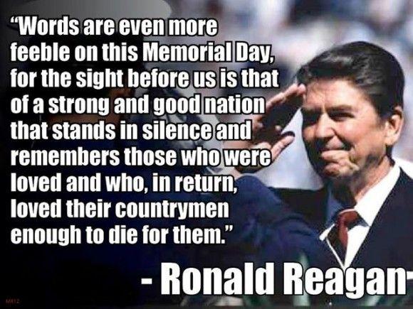 Ronald Reagan's 1982 Memorial Day Address! REPIN if you miss leaders like Ronald Reagan!