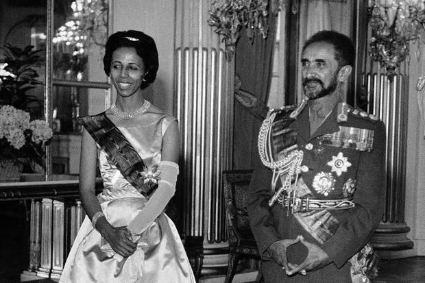 haile selassie pictures | ... and her grandfather, Haile Selassie, on a visit to Belgium in 1959 AP