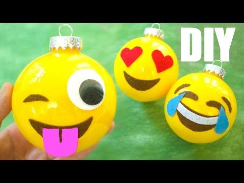 How to Make Christmas Ornaments: Emojis, DIY Christmas Decorations, My Crafts and DIY Projects