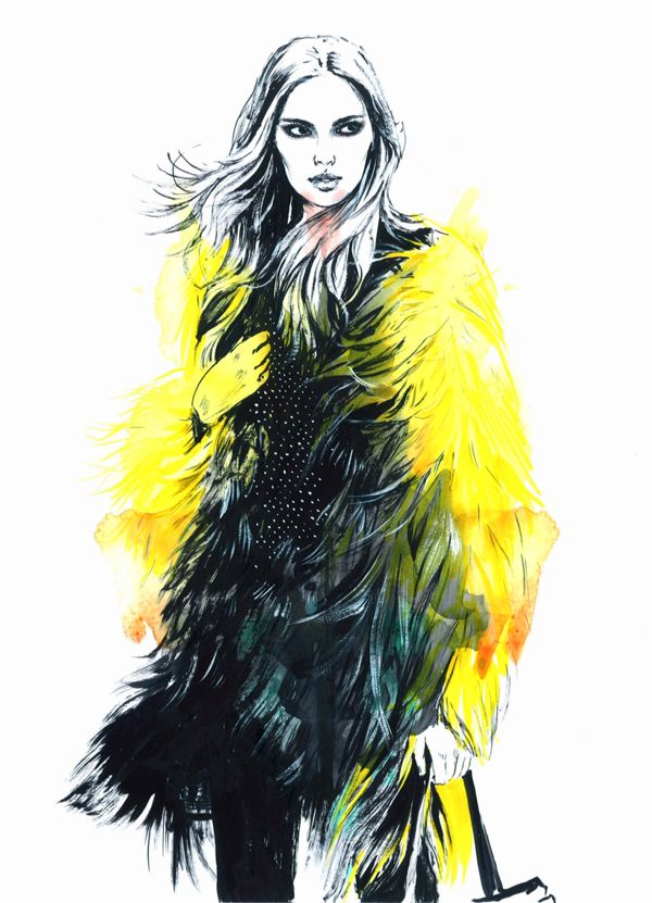 Fashion illustrations. Part 6. on Behance