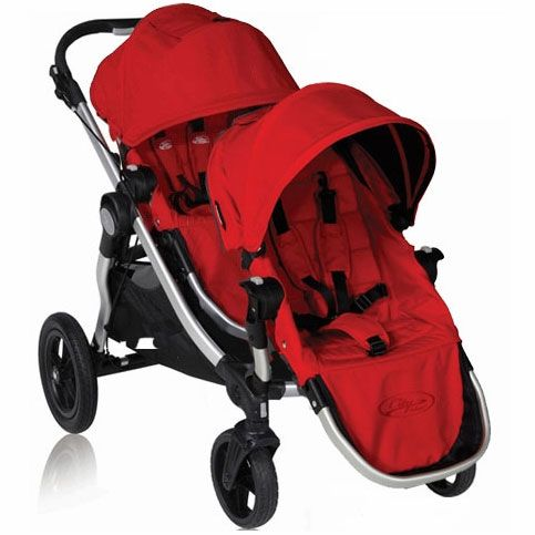 Baby Jogger City Select Stroller with Second Seat Kit in Ruby - recommended by another twin mom & dad