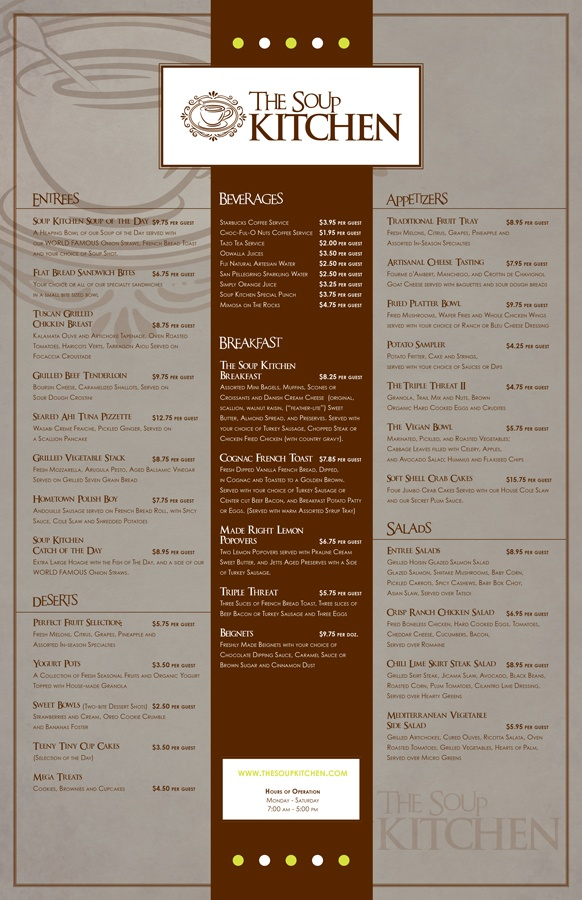 The soup kitchen menu design heavybrea multimedia is me for The perfect kitchen menu