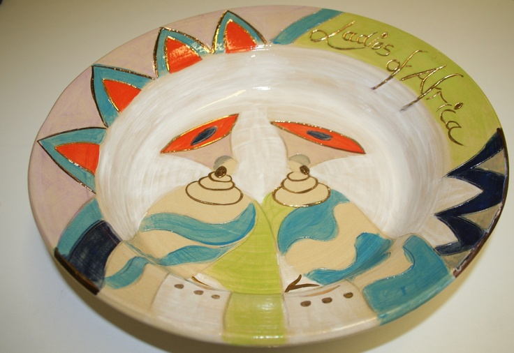 Ladies of Africa Hand made pottery bowl  www.dmgdesigns.co.za
