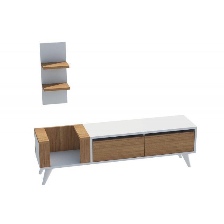 TV stand Pers TV white 30x130x38