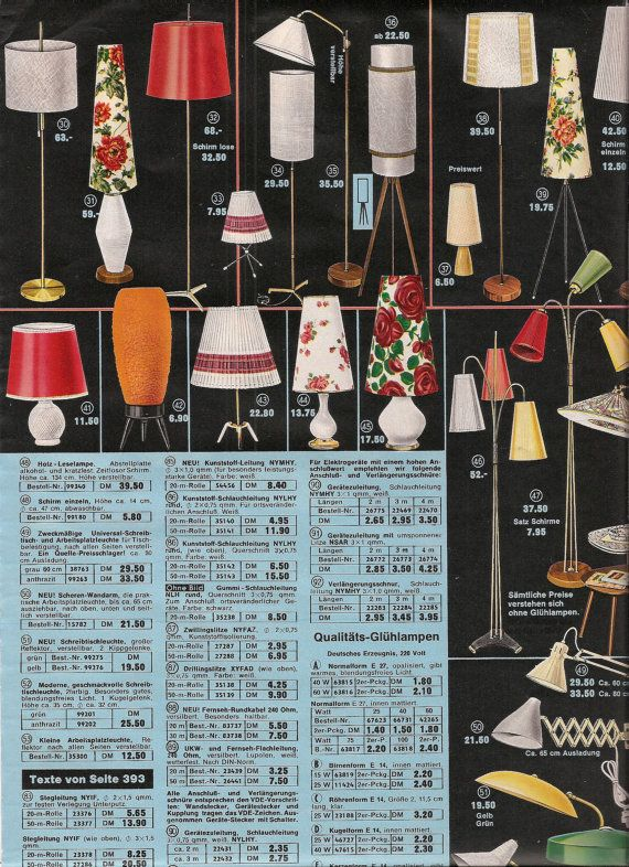 Retro Lighting 1960's Home Decor catalog pages