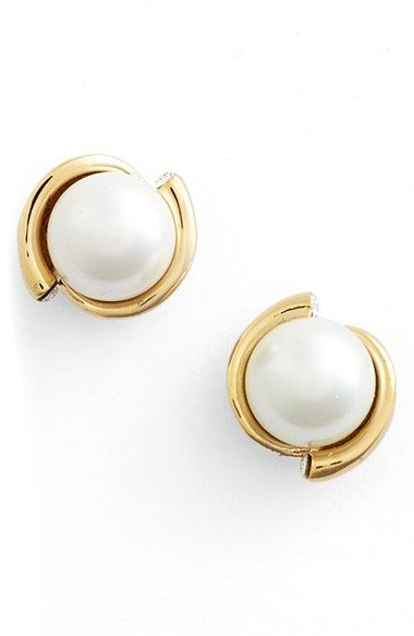 kate spade new york 'dainty sparklers' faux pearl stud earrings available at #Nordstrom