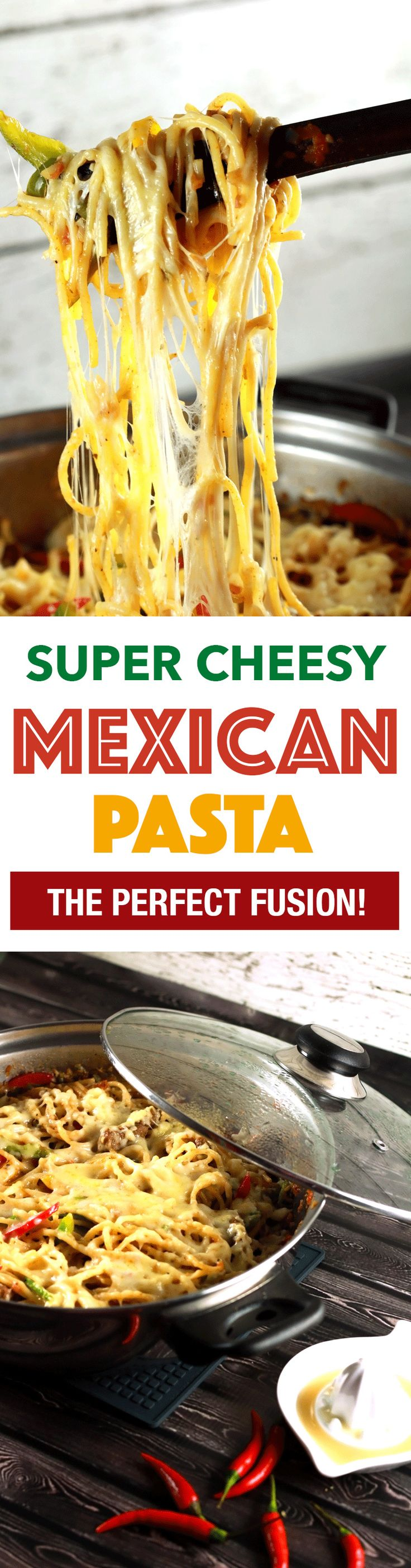 Who doesn't love pasta?! And who doesn't like Mexican food?! Put the two together and we have the most delicious pasta recipe ever!! It's super easy to make yet tastes like you put hours into it! | ScrambledChefs.com