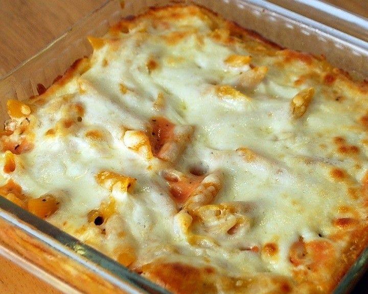 Sonkás sajtos rakott tészta