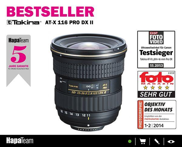 Hast Du schon oder willst Du noch?  Unser Bestseller Tokina AT-X 11-16/2.8 Pro DX II !  #hapateam #tokina #fotozubehör #fotografie #fototipps
