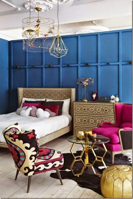 Suzano and cobalt walls