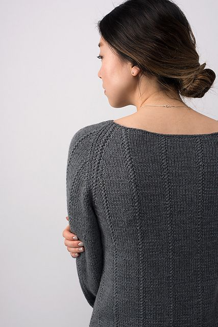 Shibui Knits FW15 | Column by Shellie Anderson, knit with Shibui Dune and Shibui Cima held together throughout.