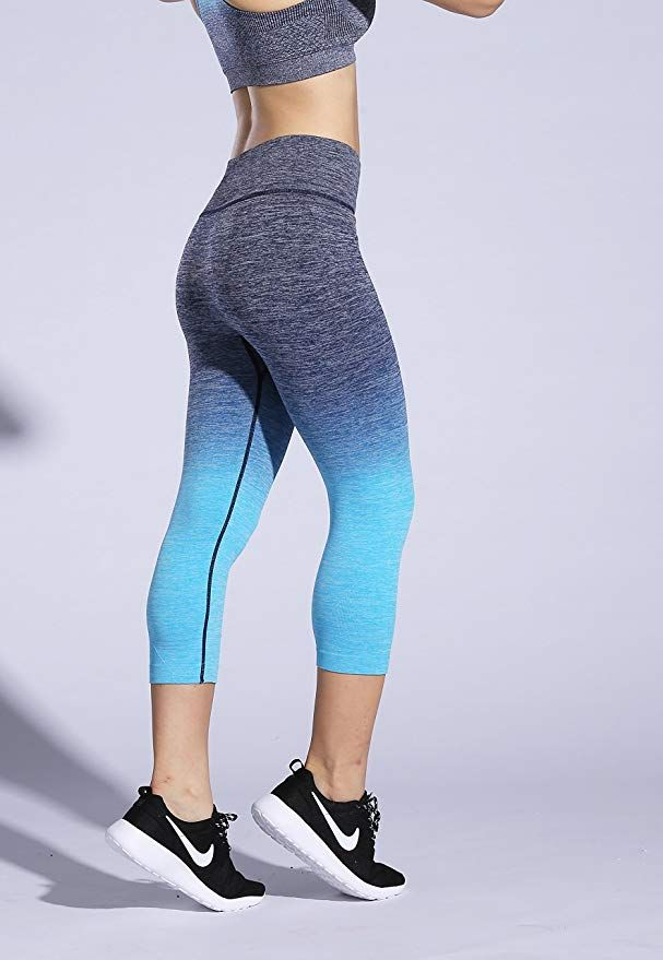 13582756a8d78 RUNNING GIRL Ombre Yoga Pants Performance Active Stretch Running Leggings  (S/M, 2PACK)