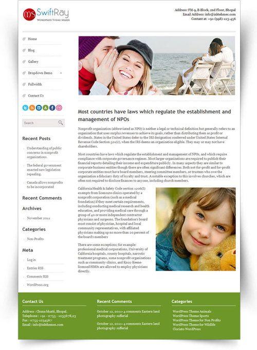 SwiftRay WordPress Theme Review - InkThemes